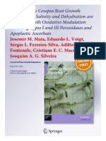 Differences in Cowpea Root Growth Triggered by Salinity and Dehydration are Associated with Oxidative Modulation Involving Types I and III Peroxidases and Apoplastic Ascorbate