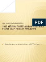 2018 National Commission on Indigenous People (Ncip