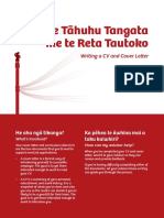 Writing a CV and Cover Letter - Using Te Reo