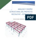 Analisis de Angelica Abril 2019 y Diseño Estructral Del Restaurant Metalico