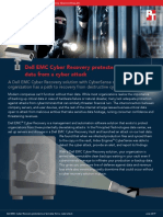 Dell EMC Cyber Recovery protected our test data from a cyber attack Cyber Recovery Report 0619