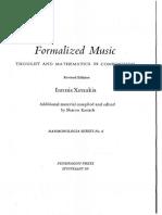XENAKIS - Formalized Music