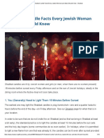15 Shabbat Candle Facts