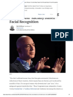 Amazon Refuses to Quit Selling 'Flawed' and 'Racially Biased' Facial Recognition