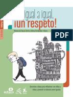 folleto de igual a igual un respeto