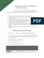 Actividad a Desarrollar en El Módulo III. Creación de Un Blog de Uso Personal