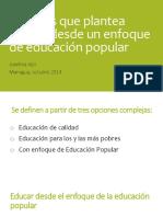 Desafios de La Educación Desde Un Enfoque de La Educación Popular Josefina Vijil