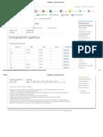 Total Materia __ Composición Química