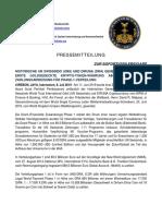 8-7-2019 GERMAN PRESS RELEASE - HISTORIC GENERAL MANAGEMENT MERGER BETWEEN UN SWISSINDO (UNS) AND DIRUNA (DRA)
