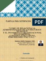 Plantilla Para Sustentacion - Upla