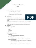 LTS Lesson Plan Math