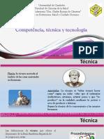 Competencia, Tecnica, Tecnologia 2019