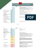Objetivos Para Cursos de Excel
