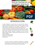 Parametros de Calidad de Vegetales Presentacion