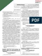 RESOLUCION MINISTERIAL N° 522-2019 MTC/01.03