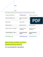 Examples of Accounting Fee Charges