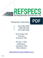 Refspecs Product Catalogue
