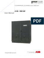 Kohler Uninterruptible Power IE ABB Powerwave 33-60-500kVA User Manual