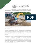 La Explotación de Oro Al Chocó