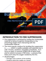 Lecture 3b - BUILDING UTILITIES 2 - Fire Protection Systems