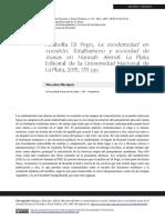 Anabella Di Pego, La modernidad en cuestión. Totalitarismo y sociedad de masas en Hannah Arendt