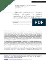 Discursos políticos, identidades y nuevos paradigmas de gobernanza en América Latina