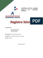 REGISTRO SONICO 123