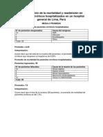 Interpretación de La Mortalidad y Readmisión en Pacientes Cirróticos Hospitalizados en Un Hospital General de Lima