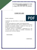 Comunicado - Sala Comercial