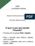 UNIP - Historia Do Pensamento Filosofico - Aula 1
