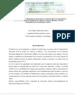 Los Sistemas Sectoriales-Regionales de Innovación en El Desarrollo de La Capacidad de Absorción. LALICS.2013