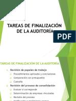 Auditoría - Tareas de Finalización