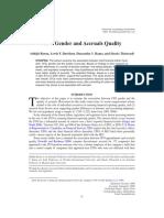 Barua, Abhijit, Davidson, Lewis F., Rama, Dasaratha v., Dan Thiruvadi, Sheela. 2010.CFO Gender and Accruals Quality. Accounting Horizons, Vol. 24, No. 1 2010 Pp. 25-39.