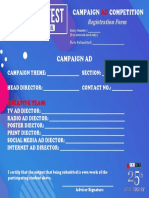 Campaign Ad Entry Form