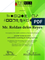 Certificate Earth Warrior
