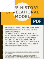 Relational Model & Relational Data Structure