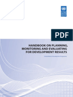 Handbook Planning Monitoring and Evaluating for Results - Undp 2009