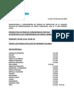 Concertacion de Precios Prensa Del 04-06-19 Al 24-06-19