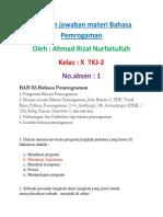 1 Ahmad Rizal X TKJ-2