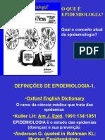 O QUE É EPIDEMIOLOGIA Qual o conceito atual de epidemiologia.ppt