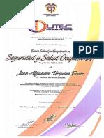 Certificación Técnico en Sst - Edutec Juan Alejandro Urquina Tovar