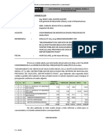 INFORME 017 HUACASUMA Modificación de Presupuesto Analítico