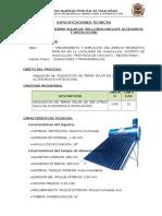 Especificaciones Tecnicas Terma Solar
