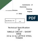 Technical Specification of short span 33  k.v OHL.doc