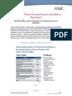 Three Areas Where Process Frameworks Make a Big Impact