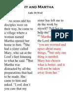 Lesson 48 Mary and Martha
