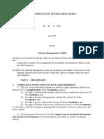 PNG - Fisheris Manangment Act 1998