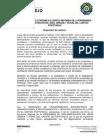 Ordenanza Que Contiene La Cuarta Reforma de La Ordenanza de Reglamentacion Del Area Urbana y Rural Del Canton Portoviejo