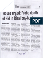 Malaya, July 10, 2019, House urged Probe death of kid in Rizal buy-bust ops.pdf