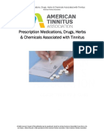 Drugs Associated With Tinnitus 2013_Updated2017
